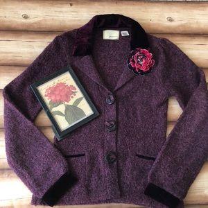 Anthropologie. Guinevere purple sweater.